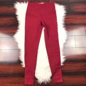 Knockout Victoria's Secret Tight Leggings Dark Red
